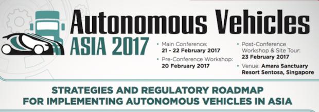 Autonomous Vehicles Asia Conference 2017 urban mobility