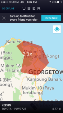 driving-for-uber-in-penang-surge-charge