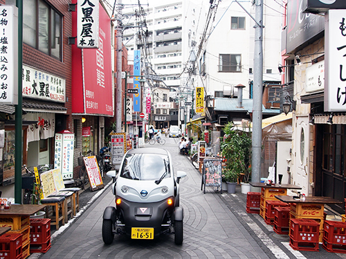 Nissan Car sharing service featuring ultra-compact electric vehicle launches in Japan driven within city Yokohama