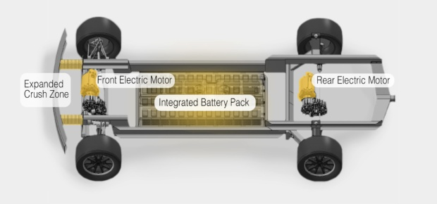 Workhorse W-15 electric pickup truck chassis