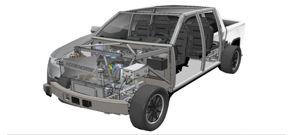 Workhorse W-15 electric pickup truck safety-drivetrain