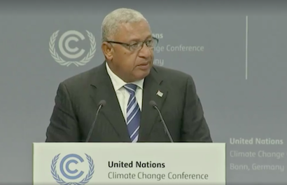 Prime Minister Voreqe Frank Bainimarama of Fiji's address to UN Climate Change Conference Bonn President of COP23