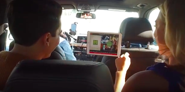 Rideplay TV Tech Company Tapping into Ride-sharing Advertising Space advertise to ride hailing passengers tablet