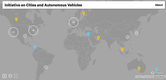 Bloomberg Philanthropies Launches Autonomous Vehicles Map of Cities Planning for a Driverless Future urban mobility Singapore Southeast Asia ASEAN
