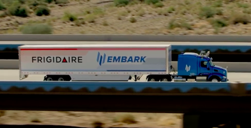 Embark, Frigidaire and Ryder Partner to Pilot Autonomous Driving Technology urban mobility logistics delivery self driving