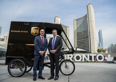 UPS launches cargo bike in Canada sustainable urban mobility logistics delivery last mile