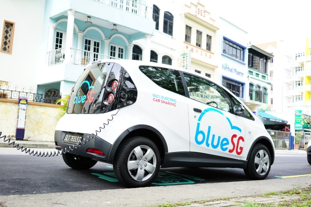 BlueSG Charging Station at Race Course Lane BlueSG Charging Station at Mohammed Sultan Potential Speed Bumps Ahead For BlueSG EV Rental Fleet electric car sharing urban mobility