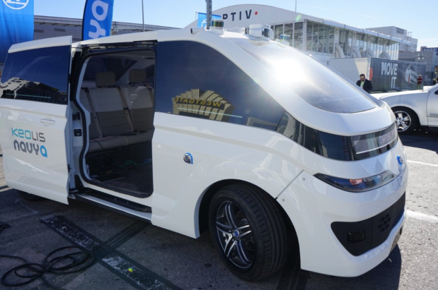 Keolis To Operate First Navya Autonomous Taxis In North America robo-taxi driverless cab urban mobility