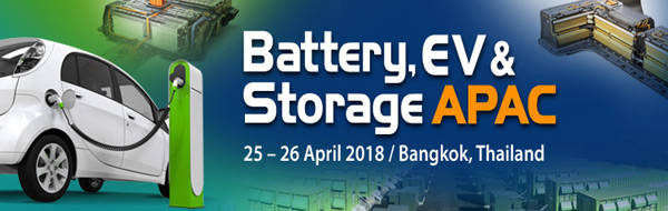 Asia Pacific Battery Storage EV summit 2018 Bangkok electric urban mobility